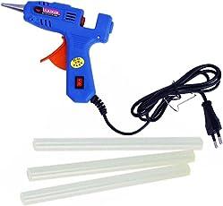 Novicz Blue-525 Plastic All Purpose Hot Melt Glue Gun Set (Multicolor, 4-Pieces)