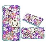 Evtech (TM) Perle Diamante Decorazione Decorazione Diamante Strass Bling Colorful cristallo Glitter Fashion Style Hard Cover telefono cellulare Custodia per iPhone 4S (100% Fatto a mano)