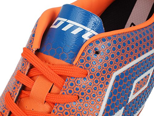 Lotto Spider 700 Xiii Tf, Chaussures de Foot Homme Multicolore - Naranja / Azul (Fant Fl / Blu Shv)
