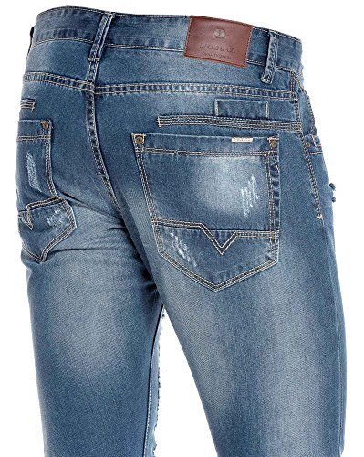 BLZ jeans - Jeans blau Mann wurde mit Licht Fading gerissen Blau ...