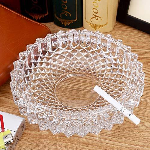 DFGUHN 13cm Aschenbecher Aschenbecher Aschenbecher für Raucher Tisch Aschenbecher aus Glas rund -