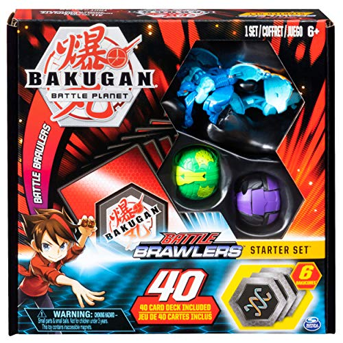 BAKUGAN 6045140 - Battle Brawlers Starterset Transforming Creatures, Aquos Garganoid, ab 6 Jahren, Mehrfarbig