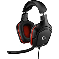 Logitech G332 Wired Gaming Headset, 50 mm Audio Drivers, Rotating Leatherette Ear Cups, 3.5…