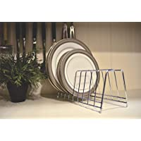 Levon Stainless Steel Plate Rack | Dish Rack | Plate Stand | Dish Stand | Lid Holder Utensil Rack for Kitchen - 12 Sections| with Anti-Rust Nano Coating