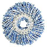 Fdit Spin Mop Head Refills Microfaser Runde Spin Mop Kopf Ersatz für Universal Spin Mop System Perfekt für Den Heimkommerziellen Einsatz (Blau)