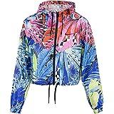 Nike Damen Wind-Jacket, Laser-Fuchsia/schwarz