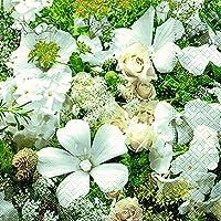 40 Servilletas sueño (Floral Dream) boda 1/4, plegado, tamaño 3