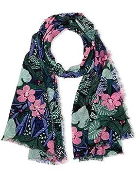 Tommy Hilfiger Thd Floral, Bufanda para Mujer, Azul (Flower Mix 904), (Talla del fabricante: Talla única)
