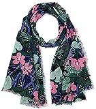 Tommy Hilfiger Damen Schal Thd Floral, Blau (Flower Mix 904), One Size