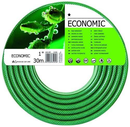 Cellfast Gartenschlauch ECONOMIC Elastisch und flexibel 3-lagiger Wasserschlauch aus Polyesterkreuzgewebe, UV-Strahlen- und Algenablagerungbeständig 20 bar Berstdruck, 30m, 1 zoll, 10- 031