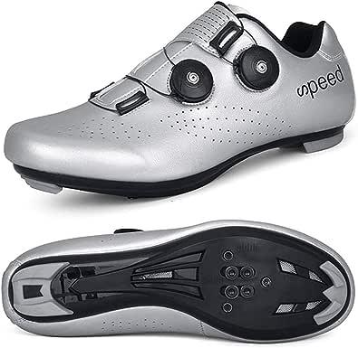 STEELEMENT.Herren Fahrradschuhe Spin Shoestring mit kompatiblen Stollen Peloton Schuh mit SPD und Delta für Männer Lock Pedal Fahrradschuhe