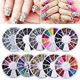 Biutee 10 wheels Nail Art Strass Set Strass steine Nagel