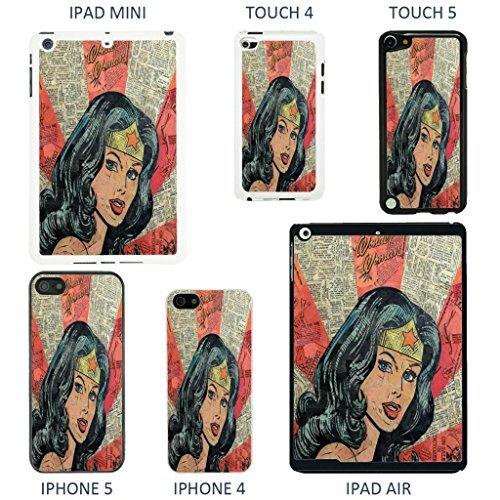Accessories4Life Coque de protection pour appareils Apple Motif couverture de bande dessinée Marvel, Batman - 926 - Blanc, iPhone 5/5S Wonder Woman - 910 - Blanc