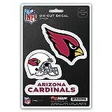 NFL Team Aufkleber, 3er Pack, DST3NF01, rot, Standard