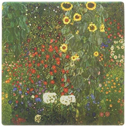 Land-malerei (3drose LLC 20,3x 20,3x 0,6cm Maus Pad, Bild von Gustav Klimt Malerei ein Land Garten mit Sonnenblumen (MP 119254_ 1))