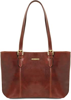 Tuscany Leather Annalisa Borsa shopping in pelle con due manici
