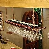 MoDi Support Bouteille Porte-Verre de vin Rouge Bar comptoir casier à vin Suspendu Porte-gobelet Vintage Haut Porte-gobelet de vin Suspendu Porte-gobelet de vin Rouge (Taille : 120 * 30cm)