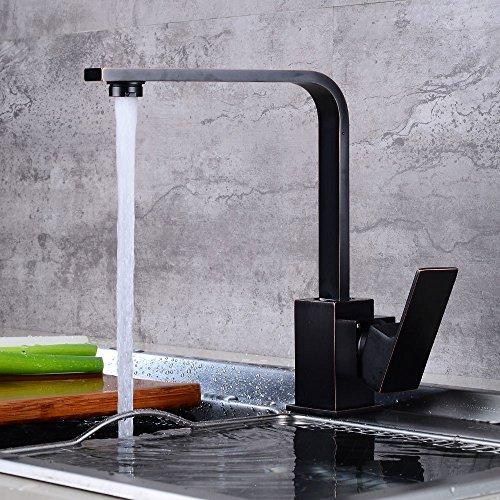 Sinken Wasserhahn Dunkle Square Wasserhahn Retro - Rotary Spüle Wasserhahn (Spülen Dunklen Super)