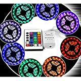 Manthan 5050 Non Waterproof RGB LED Strip With 24 Key IR Remote Controller 16 Colour 5 Mtr