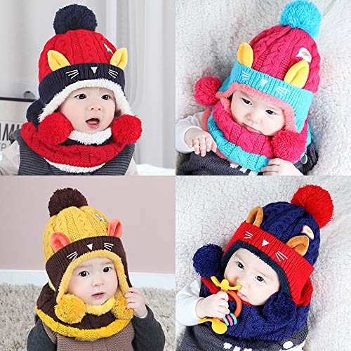 ChildHat 2018 Hut für Kinder,Plüsch Hut Schal Baby -