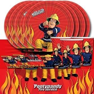 Kit de décoration de table Sam Le Pompier pour 16 personnes