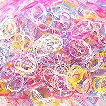 Hanmei 3200 Mini Trenzado goma unidades silicona Gomas del pelo transparente pelo cuerda pelo maduro para mujeres y niñas