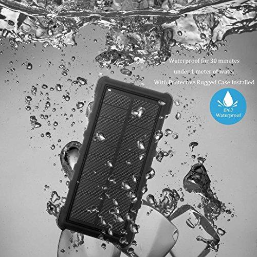 EasyAcc Classico 10000mAh Caricabatterie Portatile Batteria Compatta Esterna per iPhone iPad Samsung Smartphone Tablets - Nero e Argento