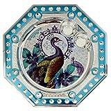 Icrafts India Diwali Light Blue Pooja Puja Thali Tilak Decorative Platter Set