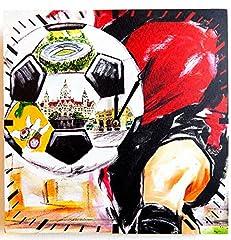 Idea Regalo - Tinas Collection Orologio da Parete, Orologio Calcio Chic da Parete, Orologio Muro, Orologio per Cucina (Calcio)
