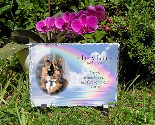 Snailprint Gedenktafel für Haustiere Hunde oder Katzen Slate Plaque personalisierbar rechteckig 1