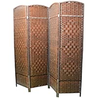 Biombo Bambú Natural color cerezo cuatro paneles