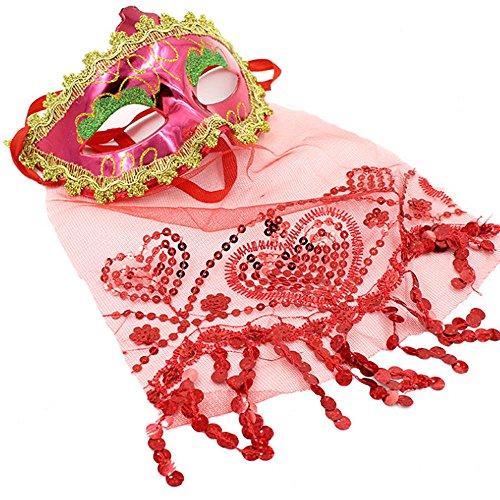 Mitlfuny Karnevalsparty Fancy Festival Zubehör,Halloween Maskerade Mask Abschlussball Party Mask Zubehör