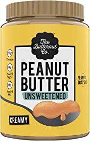 The Butternut Co. Peanut Butter Unsweetened, Creamy 1KG (No Added Sugar, Vegan, High Protein, Keto)