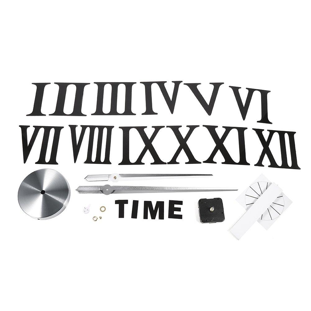 bbb51952441da6 DESCRIPTION DU PRODUIT. Yosoo DIY 3D Horloge Murale Design Géante Grande  Taille Moderne Ronde avec Chif