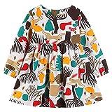 bobo4818 Kleinkind Baby Mädchen Langarm Kaninchen Druck Kleid Outfit Kleider Kleidung Langarm-Kleid Lässige Kleider for 12M-5Y