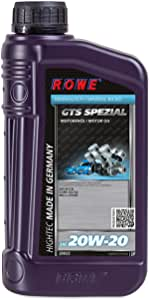Rowe Hightec Gts Spezial Sae 20w 20 1 Liter Pkw Motoröl Mineralisch Hc Synthese Made In Germany Auto