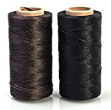 #8: Annic Waxed Thread for Leather Sewing Leathercraft Tool Stitching Cord 0.8mm Black and Brown 2 Pack