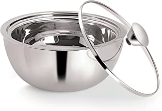 NanoNine Stainless Steel Casserole, 2.7 Litres, Silver