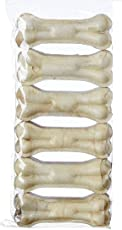 The DDS Store Rawhide Pressed Chew Dog Bone 3 inches - Pack of 1 (6 Pieces)