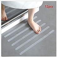 12PCS Anti Slip Bath Grip Stickers Non Slip Shower Strips Flooring Safety Tape