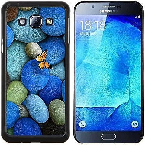 Stuss Case / Funda Carcasa protectora - Guijarros Piedras y la mariposa - Samsung Galaxy A8 A8000