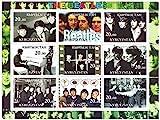 Beatles classici francobolli da collezione - 9 menta francobolli perforati con foto classiche e colpi rivista della band