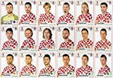 PANINI WORLD CUP 2018 STICKERS - 18 CROATIA STICKERS - TEAM SET - PLAYERS ONLY #314 - #331