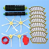 Yongse 16pcs Vacuum Cleaner Kit de accesorios Filtros y cepillos para la serie 500 de iRobot Roomba