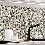 StickerProfis Küchenrückwand selbstklebend Premium Design Cubes 1.5mm, Versteift, alle Untergründe, Hartschicht, 60 x 80cm
