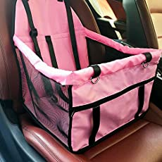 SRI High Quality Pet Back Seat Cover Mat Bag For Cars Waterproof Hammock Scratch Proof Dogs Cat Trucks SUV Auto Rear (Pink)