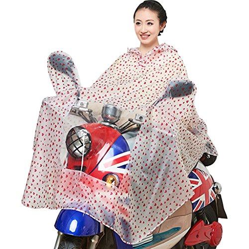 Imperméable Transparent Raincoat Mme Electric Cars Vélo Moto Mode Adulte individuelle Poncho Veste imperméable ( couleur : N ° 3 ) N ° 3