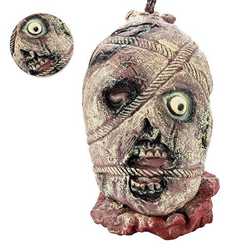 Halloween Deko Zombie Kopf Gruselig Lebensgroß Hängend Dekoration Verschiedenes Style (Style04)