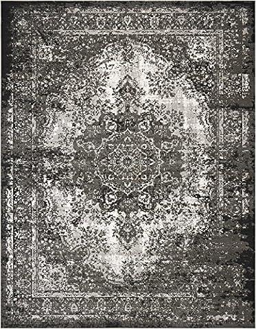 Nourison Teppich Mondrian 99446372932–Anthrazit maschinell gewebt Teppich, anthrazit, 7ft 25,4x 10ft