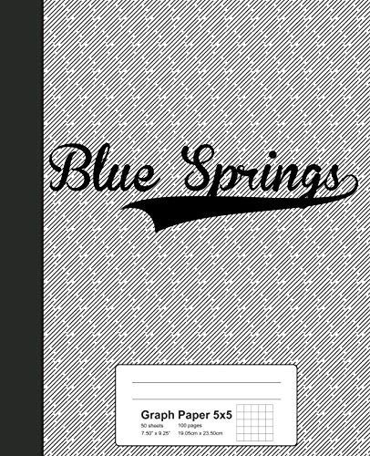 Graph Paper 5x5: BLUE SPRINGS Notebook (Weezag Graph Paper 5x5 Notebook, Band 2453)